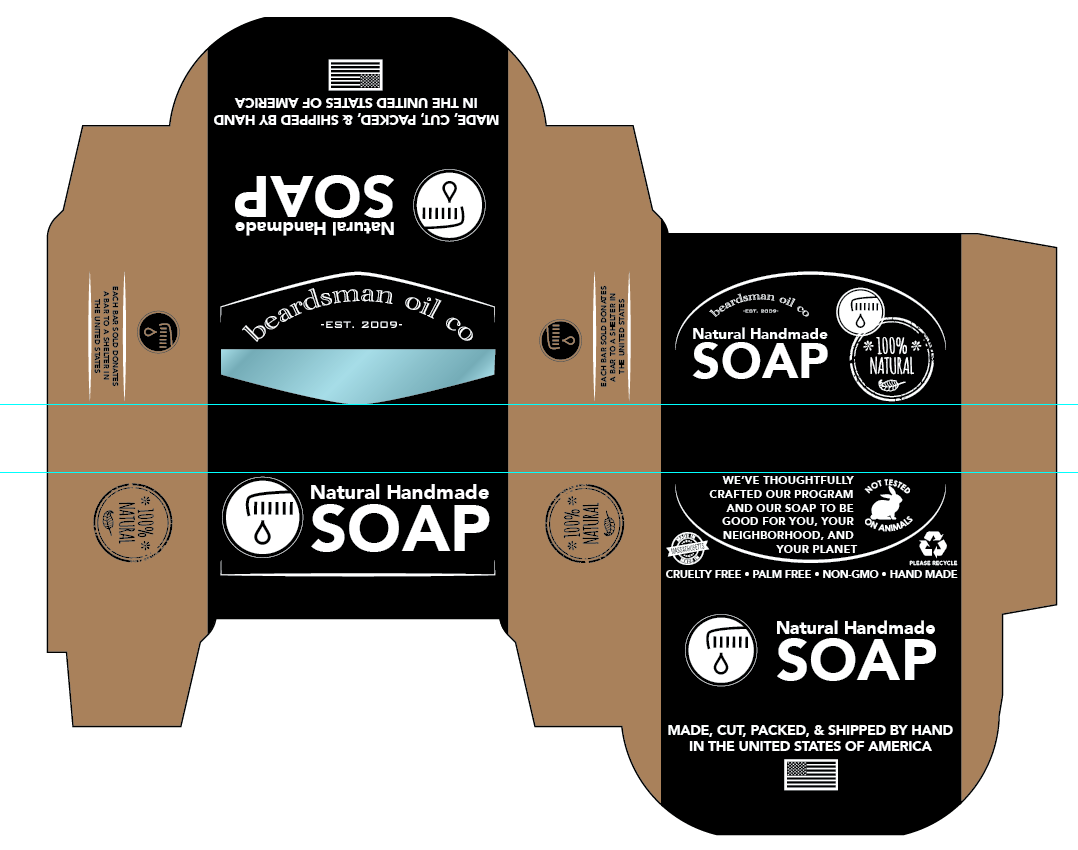Beardsman Oil Soap Box Design